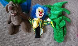 3 hand puppets $6 each