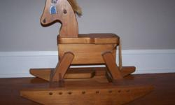 Handcrafted - Hand painted solid wood Rocking Horse.  Suitable for child 2yrs+ , or, a great decorative piece.