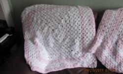 Crocheted baby blankets made with the softest wool. Have to see it to believe it.