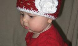 Handmade baby hats for sale. Available in different sizes and colours. Make great Christmas and baby shower gifts. Please contact me if interested.