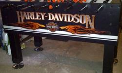 Brand new (never used) Harley-Davidson Roadhouse Collection foosball table for sale, valued at $1,195.00 selling for $650 obo.
