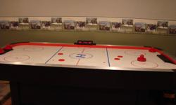 """Harvard Air Hockey Table 7'x42"""" - Includes Electronic Score Counter, four strickers and four pucks.  Excellent Condition"""