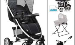 The Hauck Malibu has been a huge success in over 60 countries and is now available in North America. Offering exceptional quality and versatility at great value. The all in one version includes the stroller, universal car seat adaptor, bassinet &