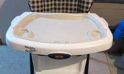 Fisher Price Healthy Start High Chair- $50.00   Now you can do more than just clean baby's high chair tray, you can sanitize it! The Healthy Start? High Chair comes with a special snap-off feeding tray that fits right into your dishwasher. Quicker cleanup