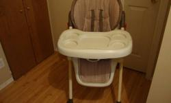 Brand new barley used high chair!! calls only no emails 403 614 3575  or 403 285 5414