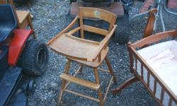 wooden high chair    call joe 9059646002