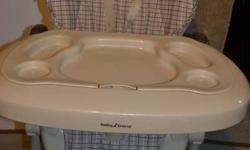 Baby Trend, folds up for easy storage, removable cover, reclines, neutral colours, used for the grandchildren only, excellent condition, bought at Toys r us...$45. OBO