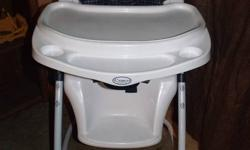 smoke free home, chair is in perfect condition, has adjustable hieght and the back rest is also adjustable, different trays to use, wheels on front make it easy to move around also lock, price is firm