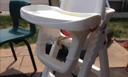 This Cosco High Chair has options for use: high chair, infant feeding and youth chair. The chair's seat can be used in a reclined infant position or adjusted into seven upright height positions for toddlers. It has four tray positions and a removable