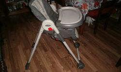 high chair and booster seat in good shape