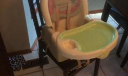 Attaches to any regular kitchen chair. Works as a high chair. Portable.