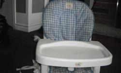 I am selling this fairly new highchair..It is in good condition. I am asking 25.00 Dollars for it.  It would be great for grandparents, and people that have extended family coming for the holidays.. Comes from a clean and smoke free home If interested