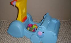 Hippo converts from standing to riding toys comes with block but does not eat them.