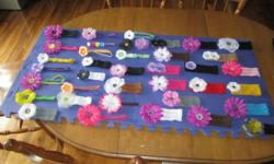 I make Home-Made headbands and clips for all ages, from newborns to adults. My Facebook page is below, feel free to check it out and contact me. Contact information is located on my Facebook Page! I've posted some pictures of some of my work.