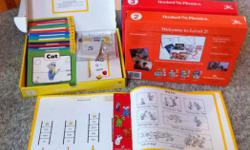 This is the Hooked on Phonics reading and comprehension program, including 5 complete levels and the parent's toolbox. Levels 4 and 5 are barely used, as by the time my children reached this point they were competently reading their own books. The
