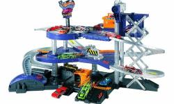 Hot Wheels Mega Garage is a real working auto garage Play set has five ramps and three levels for lots of imaginative play Bring cars in, fix 'em or store 'em and send 'em on their busy way! Features working car elevator, turnstile, and two car launchers