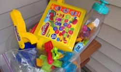 Play dough and other equipment to make whatever your heart desires. Hours and hours of fun