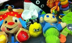 Fisher-price Lamaze Playskool Little tikes Discovery toys Sophie the Giraffe Thomas the Train And many more! There are more items not pictured because kijiji will only allow 10 pics. The whole lot for $20!!! Just want it gone! This ad was posted with the
