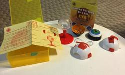Human eye biology kit, comes with an informational booklet and an false eyeball.