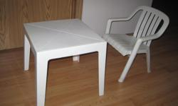 "Kids table and chair, good condition, 16x16x16"" fit in a small car"