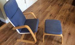 Children's chair and foot stool. Good condition
