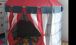Ikea Circus Tent. Excellent condition. Easy to set up and take down. Balls not included. Smoke and pet free home. No holds. Gardiner Park pick up.