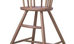 Made of solid beechwood this is a straightforward, easy to clean high chair. We tried a lot of different high chairs for our two kids and this ended up being our day-to-day use chair (we sold the others that cost 5 times as much). It's easy to clean, just