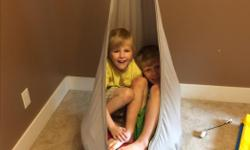 Ikea hanging hammock seat with air cushion. $40