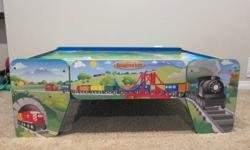 Train table complete with drawer and two sided track inserts