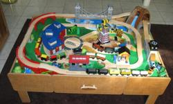 Complete train set and table looking for a new home for hours of fun and imaginary play! Gently used and very much loved.