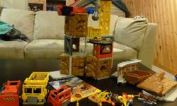 Imaginext Construction Set, lots of pieces and parts. Vehicles included. In excellent condition. From a smoke free home.