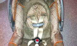 I am selling an infant car seat for $60! It was not used for very long as my son grew too quick! It is a safety 1st edition manufactured august 2010 and doesn't expire until 2016 which is located underneath the seat. It Is good up to 22 pounds! The seat
