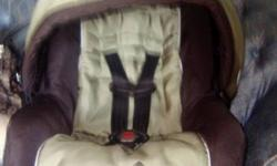 carseat/ base bought in feb 2011.  barely used/no stains has bar so can be used in a stroller.$25obo   jolly jumper plays music/ light up. toy also comes off so can be use for tummy time $20 obo