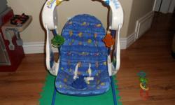 Infants swing Lights, music, 8 speeds also folds up call mark 250-714-6750
