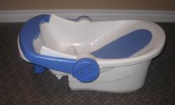 Fantastic tub! From an infant tub with a storage drawer, it can then be  transferred into a toddler bathing chair. (attaches to the side of a regular tub in the seat position). See other ads.