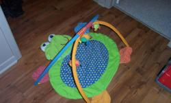 Up for sale is a like new infantino baby play gym. This comes from a clean and smoke free home. If the ad is still up then it is still available. Check our other ads for more great childrens clothes/toys etc.