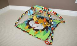 We loved this play mat, and it is in excellent condition. Extremely clean home, non-smoking. Comes with its original plastic carry bag, and was always stored in it when not in use. Bright colours, and can be used for either a boy or girl.   Why brand new