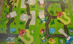 """18 interlocking foam road blocks ( 12"""" x 12"""" )"""