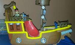 Ship with Jake and bird/Captain hook with boat Excellent condition