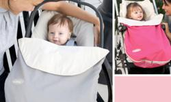J J Cole Bundle Me Lite Great for all seasons, wind and water resistance Eliminates need for blankets and jackets Fits all carseats Adjustable straps on the back, machine washable Pink in color Excellent condtion-looks brand new Paid $60 plus tax new