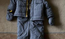 Brand New price is $44 plus tax ($49.72) you save $20!!   Only worn once and he hated the snow so it was only for approximately 5 minutes, haha.   This fits pretty big, so it could likely fit a child over 12 months too.   Asking $30