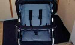 Avalon Jogging stroller , Black & grey , aluminum frame , 5 point harness , comes with a winter cover , and a customized weather shield that fits around the stroller .. easy to move nice big air filled wheels .. asking $150 practically brand new only used