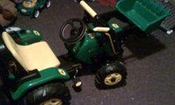 John Deer Tractor. It is peddle powered. It has never been used outside. Good condition. Paid 299$ asking 100$ obo Call 226-228-2161 This ad was posted with the Kijiji Classifieds app.