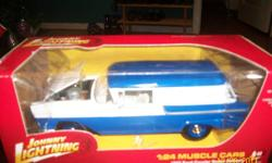 Up for sale or trade is a 1/24 johnny lightning white lightning. Comes with white interior and white base. Will sell or trade for other whites as I have 2 of this one. Call 905-688-5374 ask for David or text 905-992-9113.