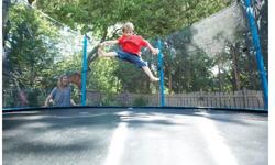 Complete trampoline in parts, packaged & easy to transport 250 lb weight limit Underwent a very recent clean Owner grew up