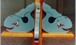 Handmade and painted Animal Coat rack with matching shelves.  Excellent gift for a new baby room.