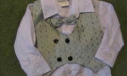 Just in time for Christmas or would be perfect for church or pictures!    Sears baby - 4pc. 12mth suit!   Just like NEW! Worn ONCE for Pictures! Paid around $50 for this! Steal it at only $20!     1st come 1st serve