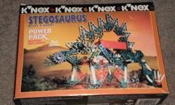 K NEX   --STEGOSAURUS   -- BUILDS 3 MODELS    FOR AGES 8 UP   used once