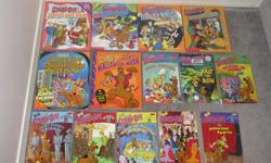 $2 each or 3 for $5 Scooby-Doo and the mystery mall Scooby-Doo and the eerie ice monster Scooby-Doo Haunted Halloween Mask Scooby-Doo Snack snatcher Scooby-Doo beware the beast from below Scooby-Doo and the hex files Scooby-Doo jungle jeopardy - SOLD