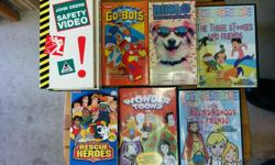 Kid's DVDs and VHS Tapes. If you want these you need to take all of them please/thank you.